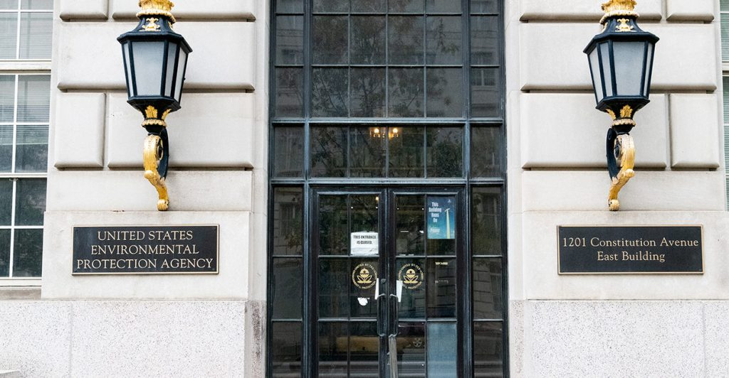 WASHINGTON, DC, UNITED STATES - 2018/11/12: The Environmental Protection Agency building in Washington, D.C. (Photo by Michael Brochstein/SOPA Images/LightRocket via Getty Images)